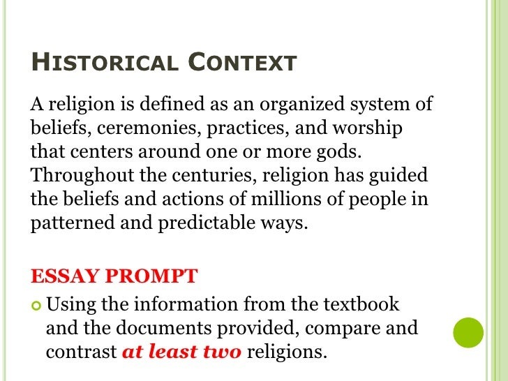 comparing religious beliefs essay Read this essay on religion comparison come browse our large digital warehouse of free sample essays get the knowledge you need.