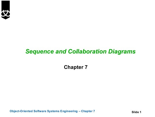 Sequence and Collaboration Diagrams                                   Chapter 7Object-Oriented Software Systems Engineerin...