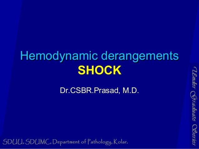 Hemodynamic derangementsHemodynamic derangements SHOCK Dr.CSBR.Prasad, M.D.