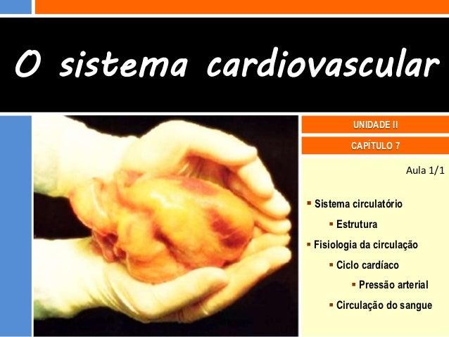 O sistema cardiovascular                          UNIDADE II                          CAPÍTULO 7                          ...