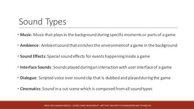 7-Sound in Game (Game Development - UMT Spring 2017/2018)