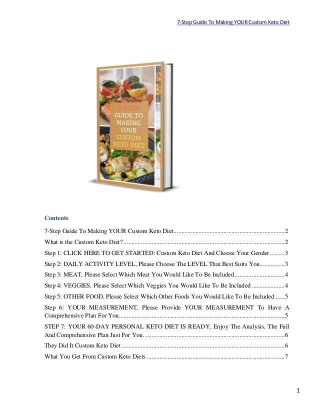 Features And Price Plan Custom Keto Diet