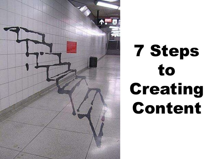 7 Steps   toCreatingContent