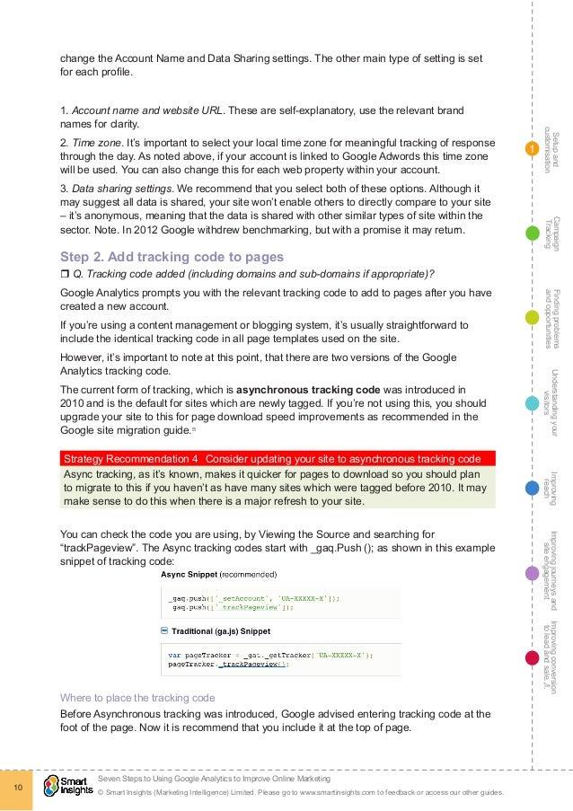 7 steps google analytics guide smart insights 10 fandeluxe Gallery