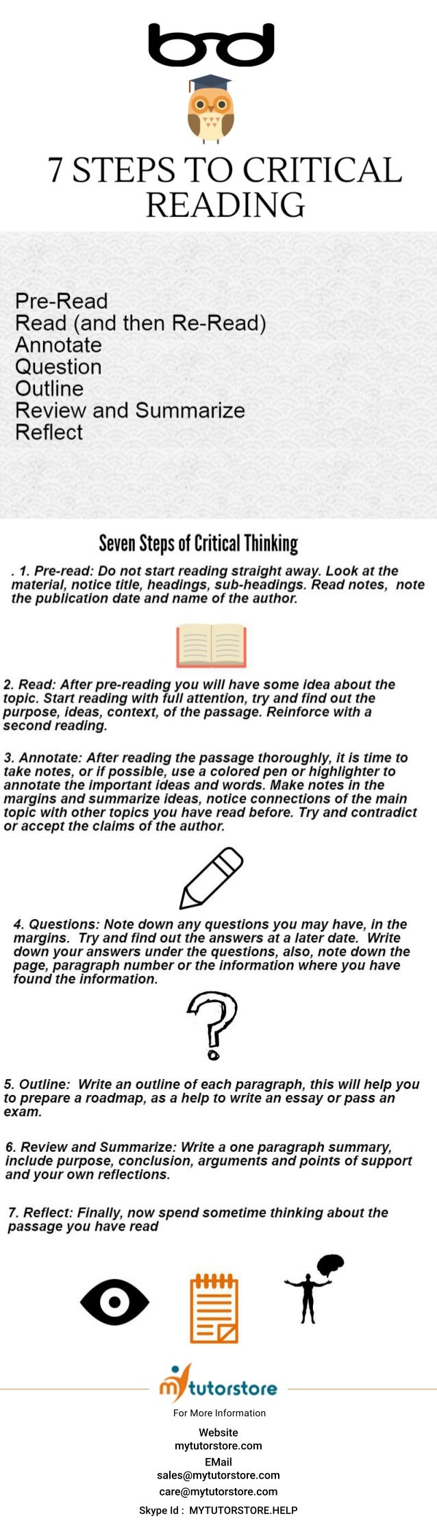 steps to critical reading 7 steps to critical reading website mytutorstore com email s mytutorstore com care mytutorstore com skypeid