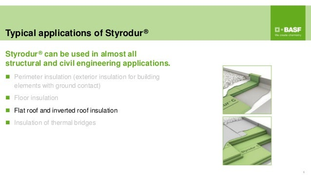 Typical applications of Styrodur® 6  Perimeter insulation (exterior insulation for building elements with ground contact)...