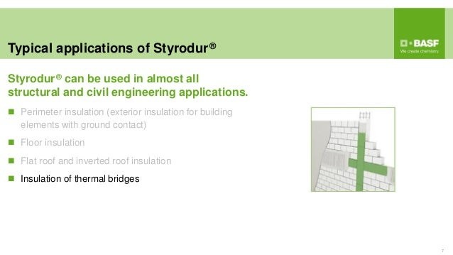 Typical applications of Styrodur® 7  Perimeter insulation (exterior insulation for building elements with ground contact)...