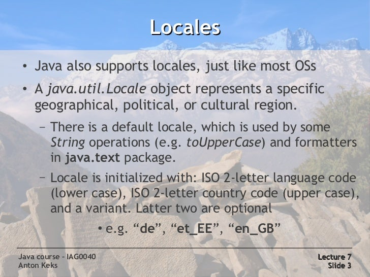 Java Course 7: Text processing, Charsets & Encodings Slide 3