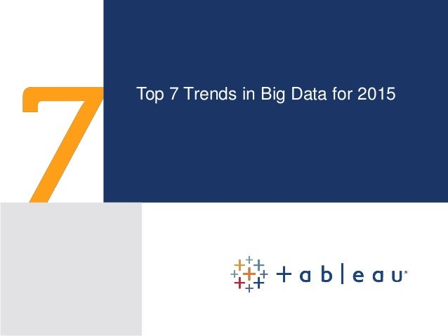 Top 7 Trends in Big Data for 2015