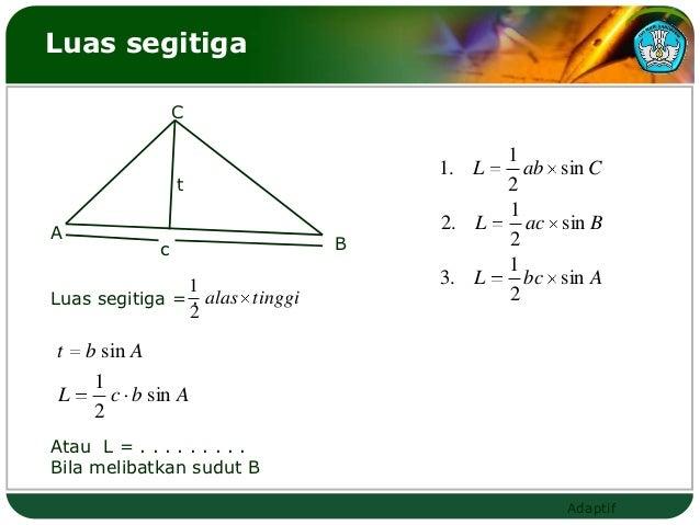 Luas segitiga                 C                                           1                                    1. L     ab...