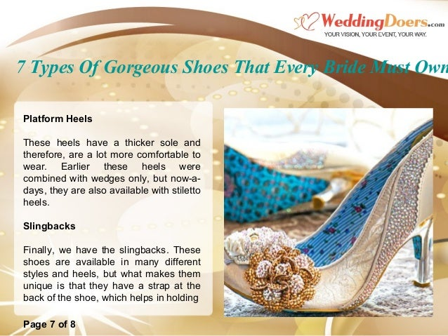 7 Types Of Gorgeous Shoes That Every Bride Must Own