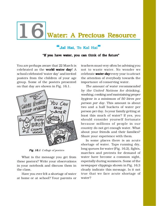 water a precious resource 16 water a precious resource ""