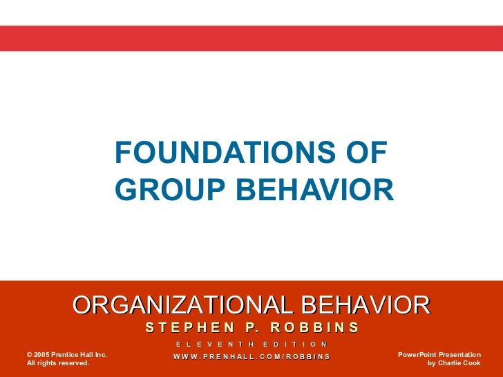 foundations of group behaviour Chapter 9: foundations of group behavior defining and classifying groups groups - two or more individuals, interacting and interdependent, who have come together to achieve particular objectives.