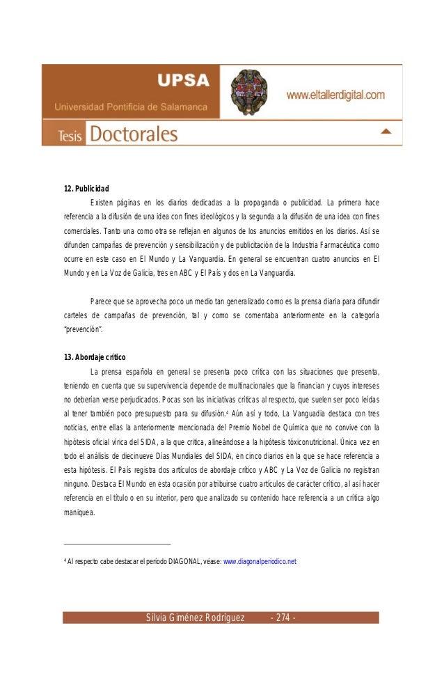 Silvia Giménez Rodríguez - 274 - 12. Publicidad Existen páginas en los diarios dedicadas a la propaganda o publicidad. La ...