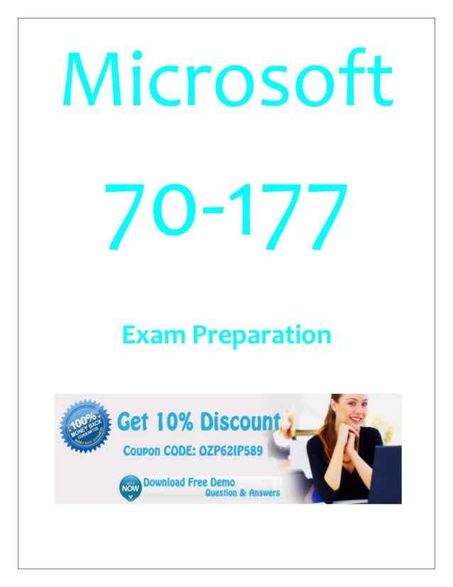 Microsoft 70-177 Exam Preparation