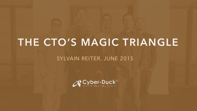 THE CTO'S MAGIC TRIANGLE SYLVAIN REITER, JUNE 2015
