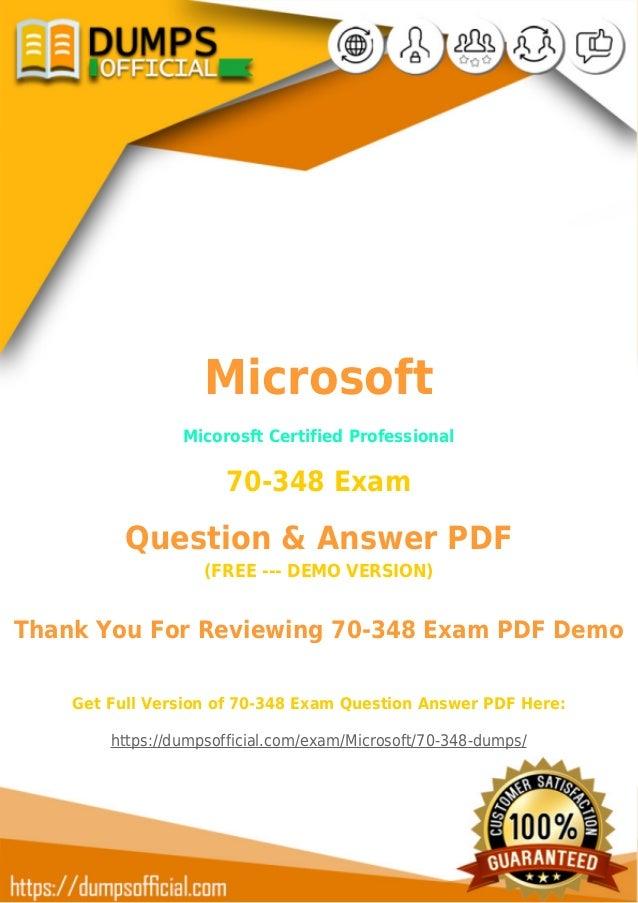 70 348 Dumps Microsoft Mcp 70 348 Exam Questions Pdf 2018