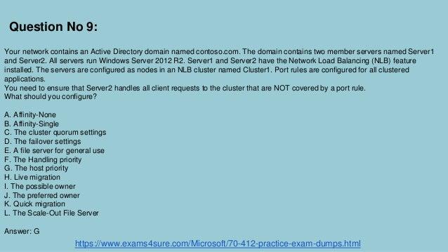 windows server 2012 exam 70 412 pdf