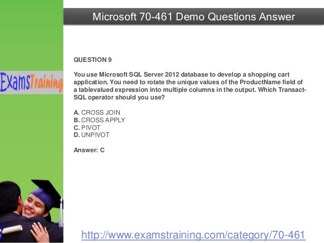 Microsoft 70 461 Real Exam Questions With Answers