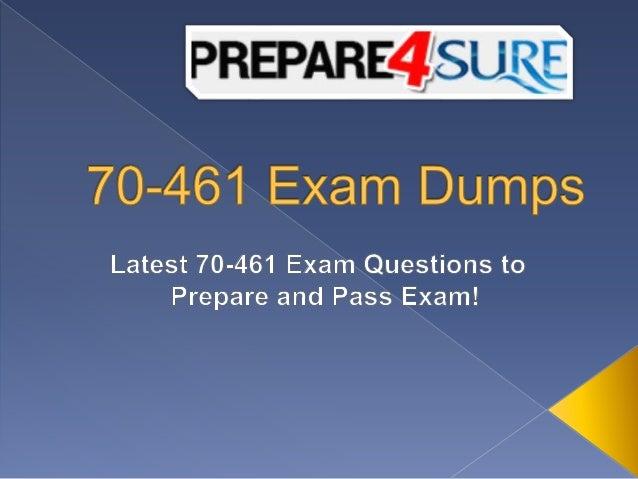 Valid 70-461 dumps pdf 70-461 practice test questions.