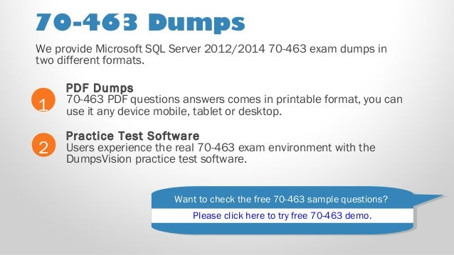 Exam 70 463 Dumps Pdf