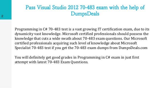 70 483 Dumps Pdf