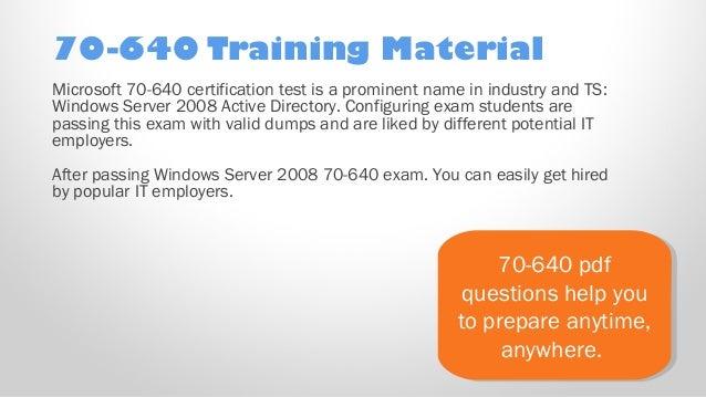 Training kit pdf 70-640