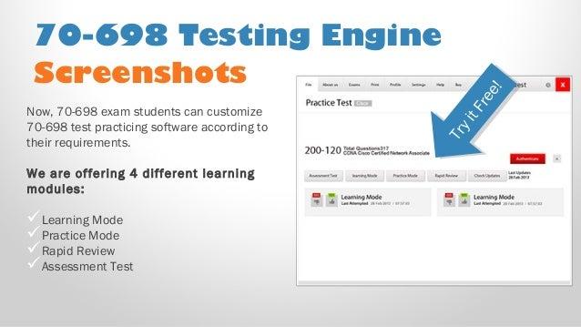 70 698 Pdf Practice Test Free Microsoft 70 698 Sample Exam Questions