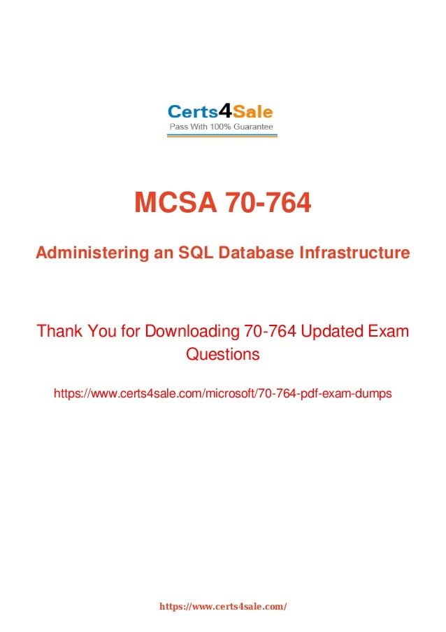 Mcsa 70 764 Developer Exam Dumps With Latest Questions And Answers