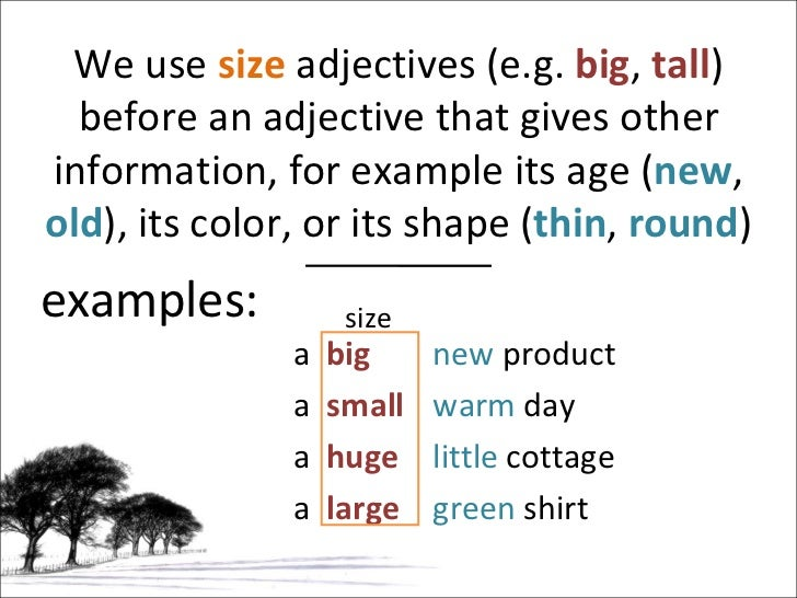 Grammar Adverb Adjective Noun Noun