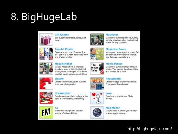 8. BigHugeLab<br />http://bighugelabs.com/<br />