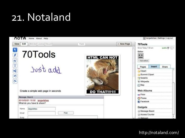 21. Notaland<br />http://notaland.com/<br />