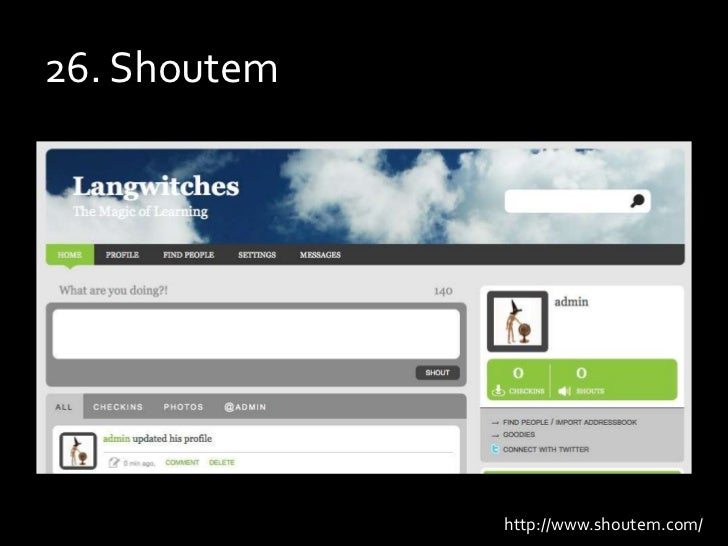 26. Shoutem<br />http://www.shoutem.com/<br />