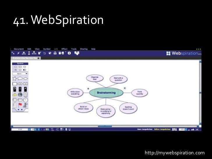 41. WebSpiration<br />http://mywebspiration.com<br />