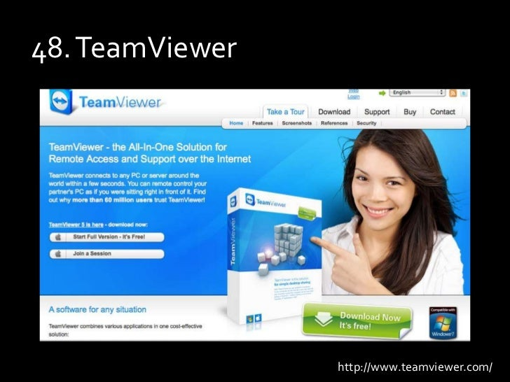 48. TeamViewer<br />http://www.teamviewer.com/<br />