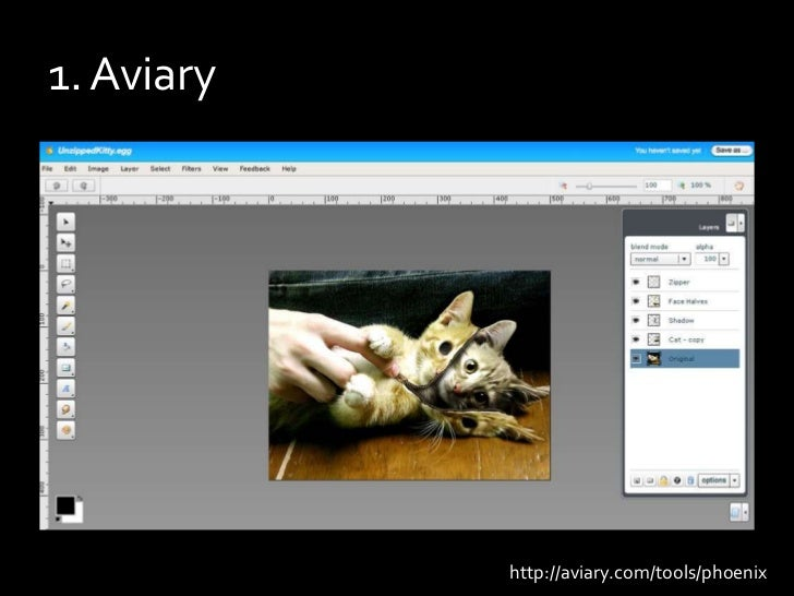 1. Aviary<br />http://aviary.com/tools/phoenix<br />