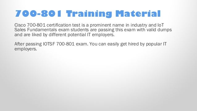 Cisco Best Practice Material For  700-801 Exam Q/&A PDF+SIM