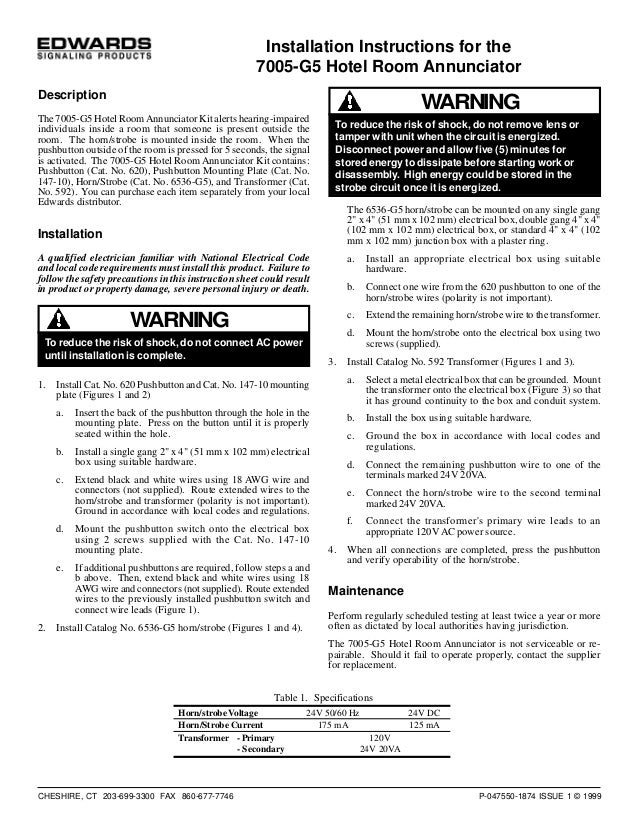 edwards signaling 7005g5 installation manual 1 638?cb=1432655035 edwards signaling 7005 g5 installation manual edwards 592 transformer wiring diagram at love-stories.co