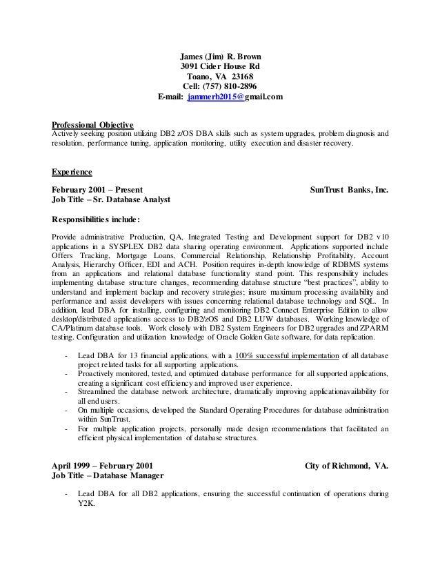 resume of jim brown
