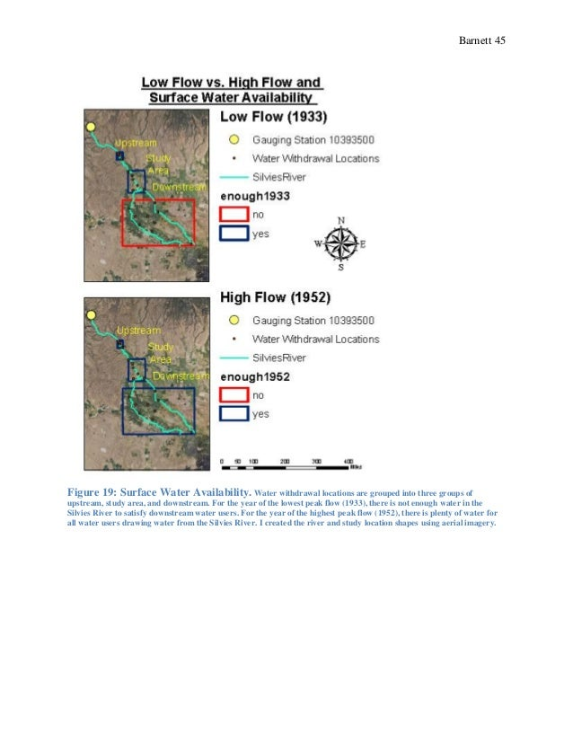 Barnett 45 Figure 19: Surface Water Availability. Water withdrawal locations are grouped into three groups of upstream, st...