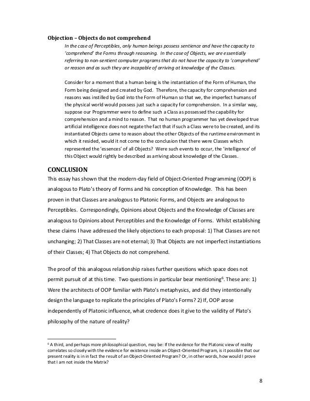 8 Objection–Objectsdonotcomprehend InthecaseofPerceptibles,onlyhumanbeingspossesssentienceandhavetheca...