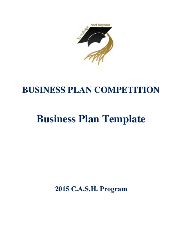 Business plan template business plan competition business plan template 2015 cash program fbccfo Image collections