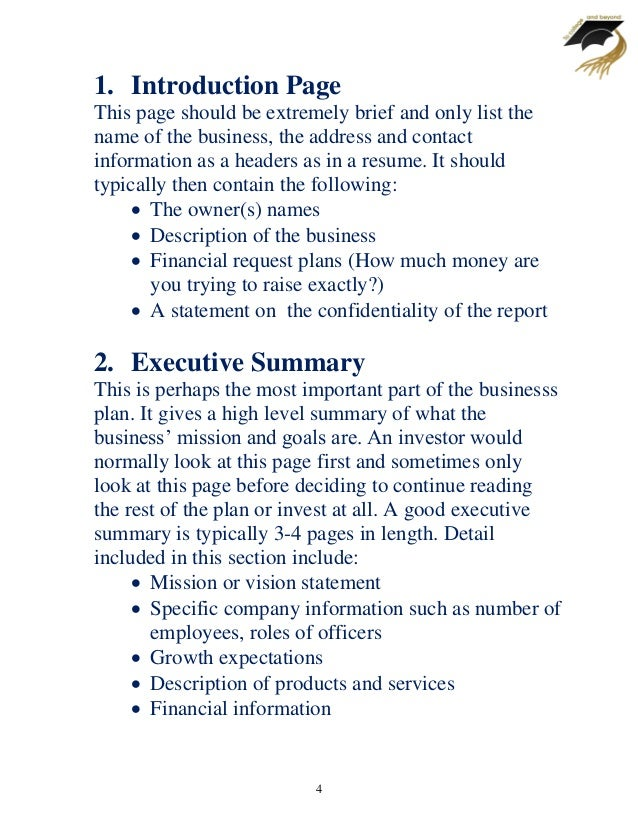 Executive Summary - The most crucial part of your business plan