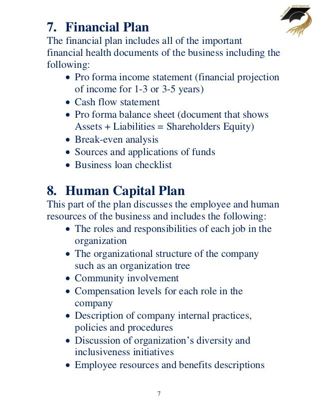 Business Plan Template - Pro forma business plan template