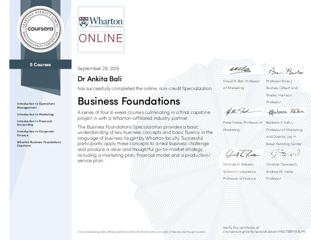 Coursera Business Foundations 2015 (3)