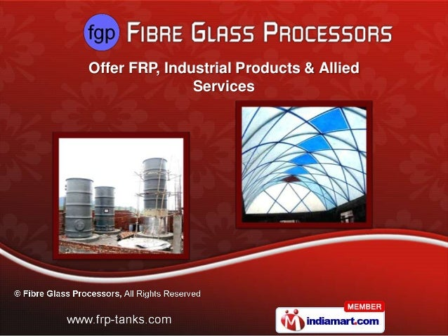 Offer FRP, Industrial Products & Allied               Services