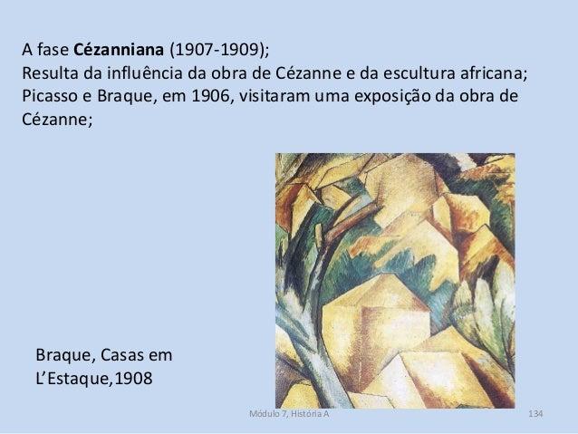 Braque, Casas em L'Estaque,1908 A fase Cézanniana (1907-1909); Resulta da influência da obra de Cézanne e da escultura afr...