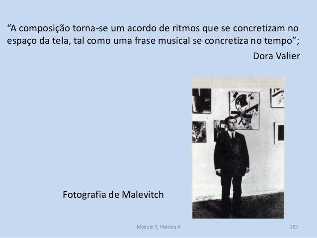 """Fotografia de Malevitch """"A composição torna-se um acordo de ritmos que se concretizam no espaço da tela, tal como uma fras..."""