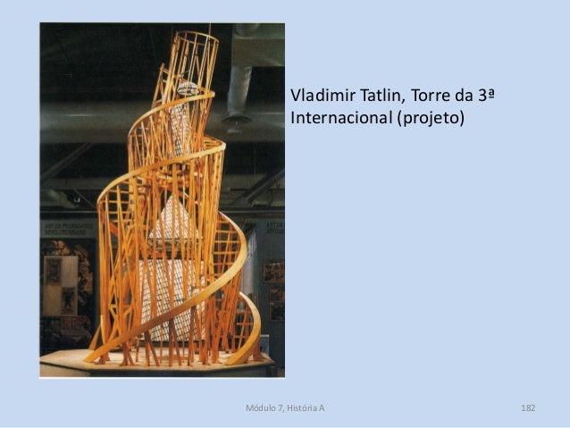 Vladimir Tatlin, Torre da 3ª Internacional (projeto) Módulo 7, História A 182