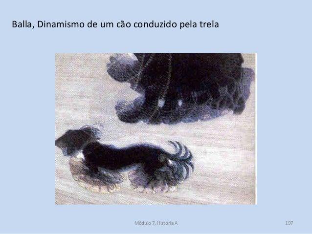 Balla, Dinamismo de um cão conduzido pela trela Módulo 7, História A 197
